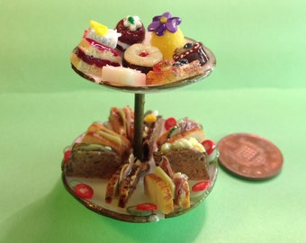 Tea time treat  1/12 scale  (each) dollshouse, polymer clay, miniature food