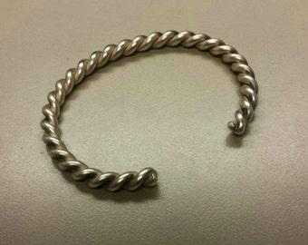 Sterling Silver .925 Cuff Bangle Bracelet