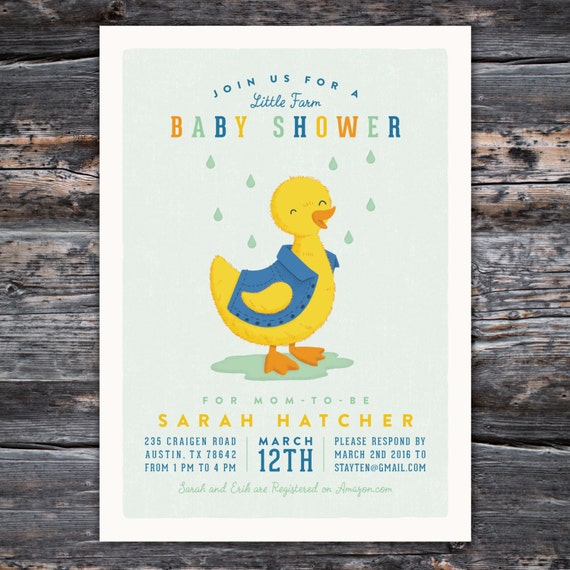 Country Baby Shower Invitation