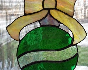 Stained Glass Christmas Ornament Suncatcher