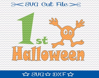 Halloween SVG File, SVG for Silhouette, Trick or Treat svg, 1st Halloween SVG, Halloween Cut File