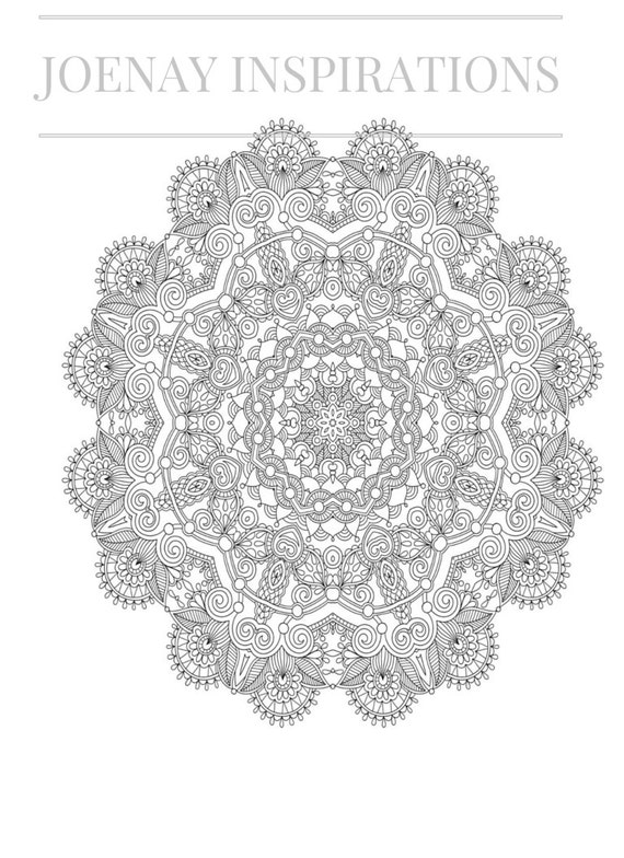 Adult Coloring Book, Printable Coloring Pages, Coloring Pages, Coloring Book for Adults, Instant Download Magnificent Mandalas 2 page 11