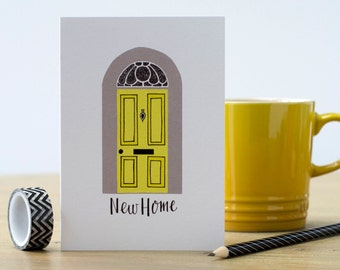 New Home Card - congratulations on your new home card - congratulations - moving house cards -  moving card - new house card