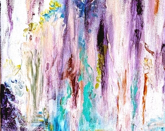 Weeping Willow Tree Painting, Original Tree Painting, Tree Landscape Painting, Willow Tree Art