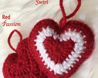 Happy Hearts Valentine's Day Gift - Crochet Heart - Amigurumi Heart - Valentine's Decoration - Heart Ornament - Crochet Hearts - Heart Gifts
