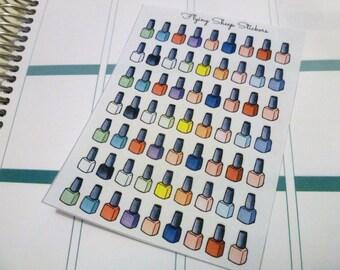 MINI Multicoloured Nail Polish Planner Stickers