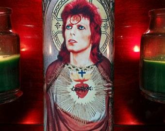 David or ziggy  in Celebrity Church Window Saint Prayer Candle frame
