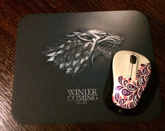 """Game of Thrones, House of Stark """"Winter is Coming"""" Mousepad"""