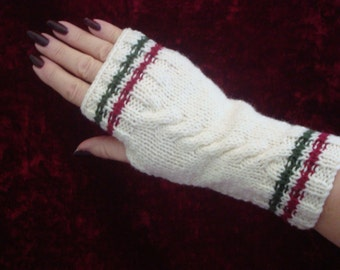 Hand Knitted Wrist Warmers Ideal for Texting