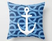 Marine Throw Pillow Personalized Cover Insert 16x16 18x18 20x20 Home Living Bed Pillow Decor Pillow Sea Pillow Ocean Pillow Anchor Pillow