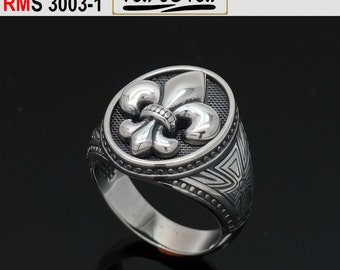 Ring Byzantine Style with fleur de lis (RMS3003-1)