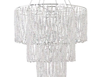 SAVE 15%!!! Crystal Chandelier 24x31 (24x50 with chain)