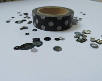 Black and White spot washi tape
