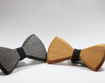FREE SHIPPING!!! Wooden bow tie without fabric
