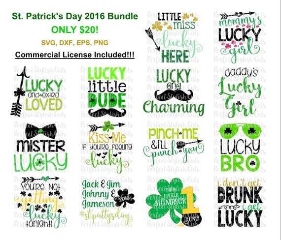St Patrick S Day Designs Bundle Svg Dxf Eps Png Files