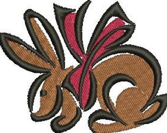 Machine Embroidery Design Bunny