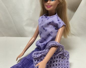 Perfect Purples Barbie Clothes Set: Outfits #1/Pants, Shirt, and Purse