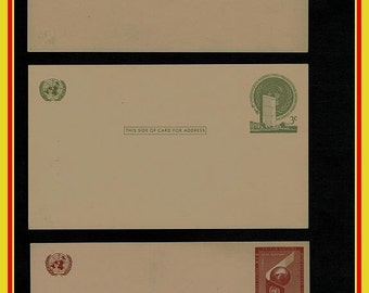 5 United Nations Blank Postcards / Covers
