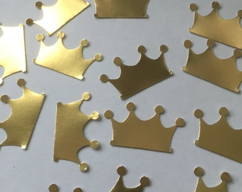 75 Gold Crown die cuts confetti