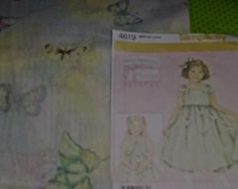 Daisy Kingdom Butterfly Garden Sparke Allover Doll Dress & Jacket