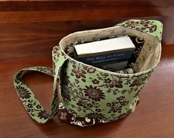 Trendy Tote Purse - vintage and upcycled materials