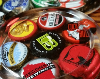 Beer Cap Coasters Set of 4 Assorted Beer Caps - Free Shipping