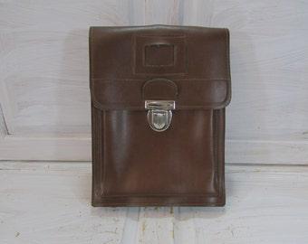 Vintage officer bag Vintage military bag Field bag Messenger bag Crossbody bag Vintage  military leatherette bag Shoulder bag Retro bag