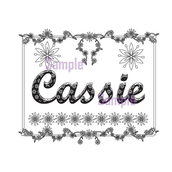 free personalized name coloring pages - photo#29