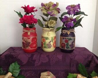 Fruit & Wine Mason Jars