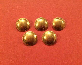 20mm Hollow Domed Brass Button (5 Pack) - Re-Enactment, Living History
