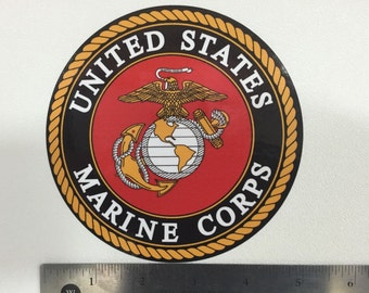 USMC : U.S. Marine Corps Seal Car Decal / Sticker - FREE SHIPPING