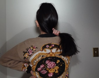 PRE-FALL SALE Floral Crochet Design Cardigan