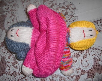 Topsty - Turnabout Doll - Hand Knitted 4 in one Doll