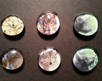 Wolf Gem Magnets