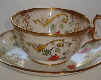 Royal Albert England HP Enamel Cup and Saucer