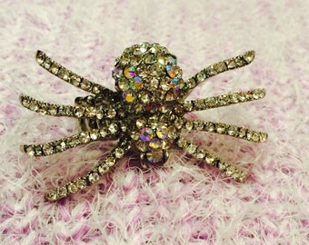 Along Came a Spider Silver Adjustable One of a Kind One Size Fits All Statement Ring