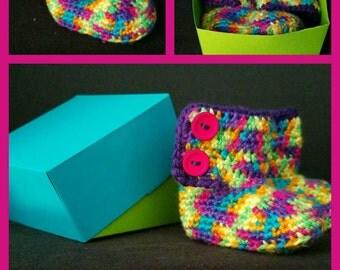 Rainbow Baby Bootie boots
