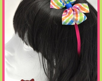 Headband with ribbon bow