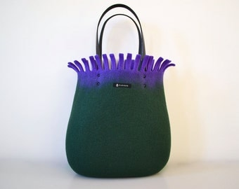 Sea anemone bag * green & purple