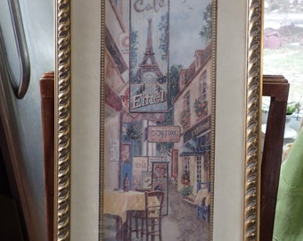 Vintage Framed Eiffel tower print