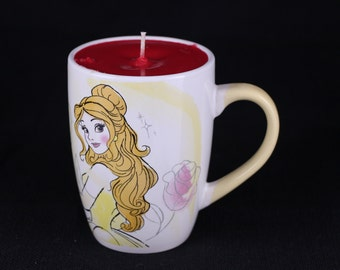 Disney Princess Belle soy candle mug