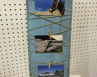 Weathered wood Twine Picture Frame
