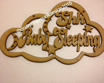 Shh Baby Sleeping plaque for bedroom door