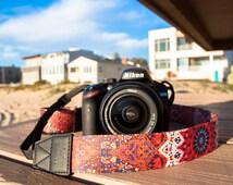 Camera Strap - Asha design strap for DSLR or SLR camera, DSLR Camera Strap. Camera accessories. Canon camera strap. Nikon camera strap.