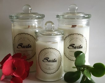 Scented 100% Soy Wax Candle with wooden wick