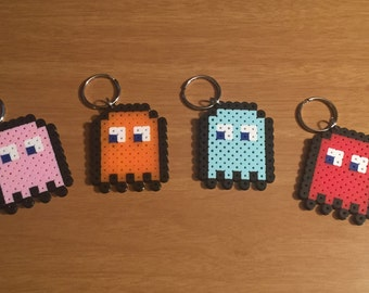 Pacman Ghost Keychain | Nerdy Collectible | Pixel Art | Namco | Blinky | Pinky | Inky | Clyde