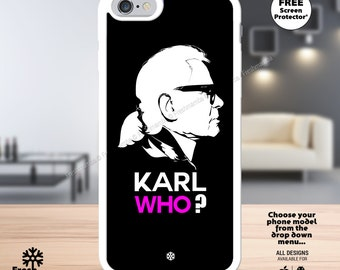 iPhone 6 case Karl who?, Bumper case for iPhone 6 iPhone 6+ iPhone 6s iPhone 6s+ iPhone 5 iPhone 5c iPhone 4s, iPhone 6 case Karl quote