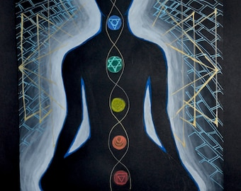 Spiritual Art Painting Original Trippy Chakra