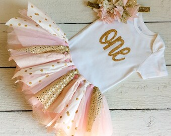 pink and gold tutu, pink and gold fabric tutu, pink tutu, cake smash tutu, birthday tutu, gold tutu, first birthday tutu