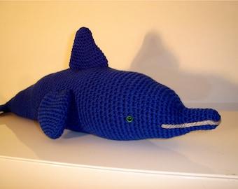 Dolphin, Amigurumi Dolphin, Stuffed animal, Blue Dolphin, Sealife, Crochet, Amigurumi, Handmade Soft Toy